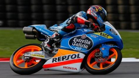 alex rins finis terdepan di Moto3 silverstone