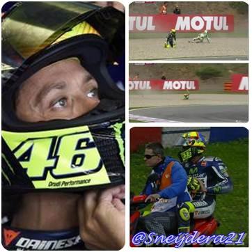 Jari Terluka, Rossi Berharap Tak Ada Masalah Selama Balapan di Brno
