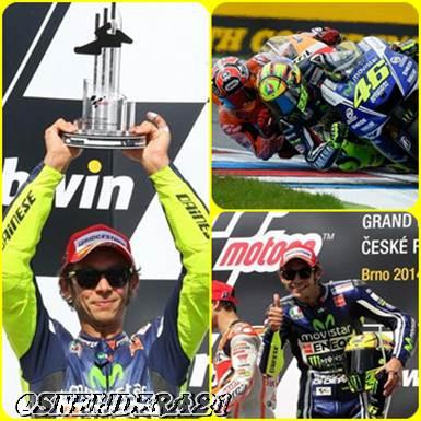 Puas Kalahkan Marquez, Rossi Bangga Naik Podium di Brno