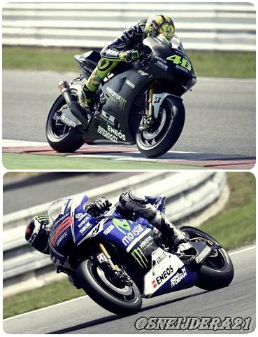 rossi and lorenzo at test motogp brno 2014