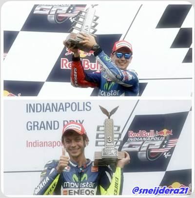 Yamaha Puas Lorenzo-Rossi Naik Podium di Indianapolis