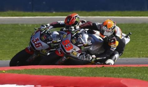 esteve rabat vs mika kallio race moto2 silverstone 2014