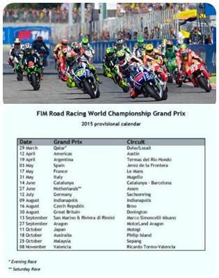 kalender sementara motogp 2015