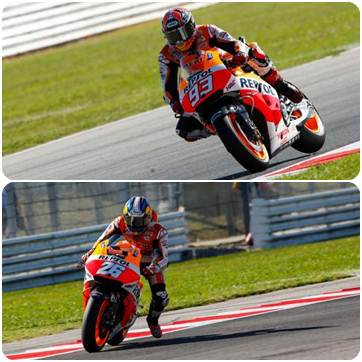 marquez-pedrosa second grid at misano