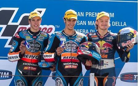 rins menang di moto3 misano 2014