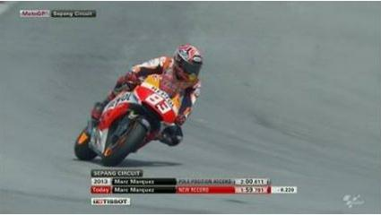 marc new rekor pole at sepang