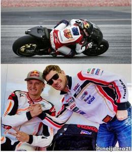 lucio cecchinello with jack miller - lcr honda motogp