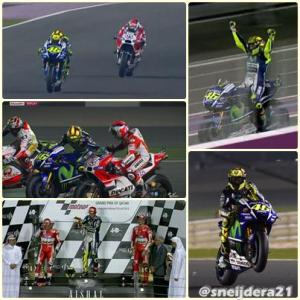 rossi menangi balapan MotoGP Qatar 2015